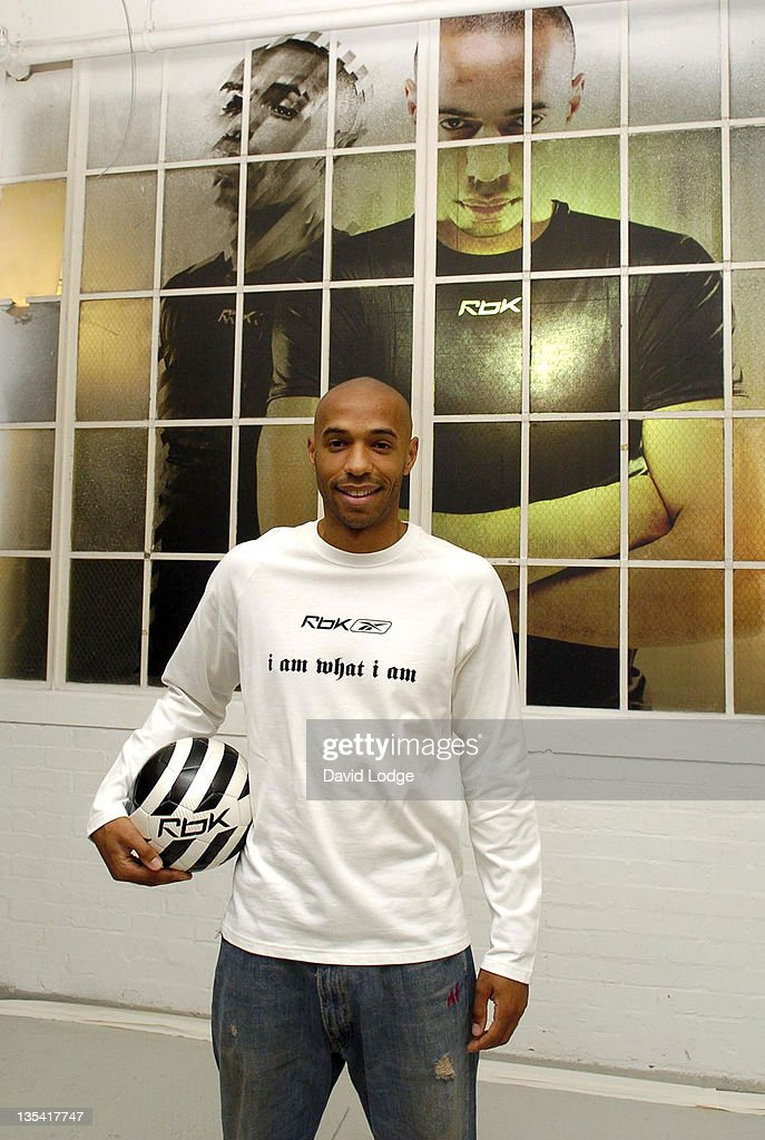 Thierry Henry during Thierry Henry and Reebok Photocall at Phonica in London, Great Britain.