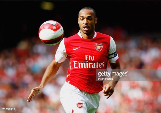 Thierry Henry of Arsenal in action during the Barclays Premiership match between Arsenal and Middlesbrough at The Emirates Stadium on September 9...