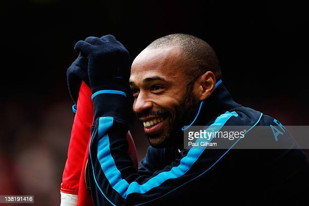 Thierry Henry of Arsenal look on from the corner flag during the Barclays Premier League match between Arsenal and Blackburn Rovers at Emirates...