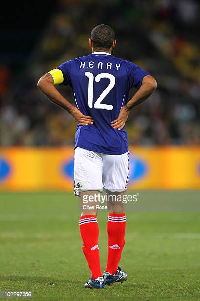 Thierry Henry of France looks dejected during the 2010 FIFA World Cup South Africa Group A match between France and South Africa at the Free State...