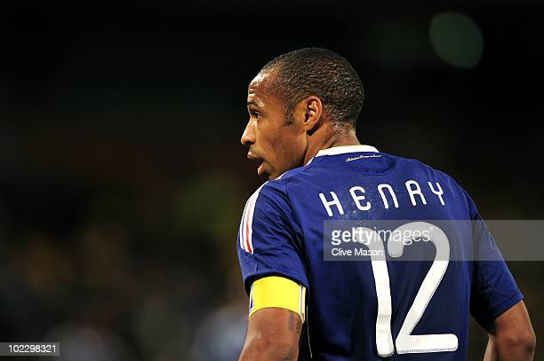 Thierry Henry of France looks on during the 2010 FIFA World Cup South Africa Group A match between France and South Africa at the Free State Stadium...