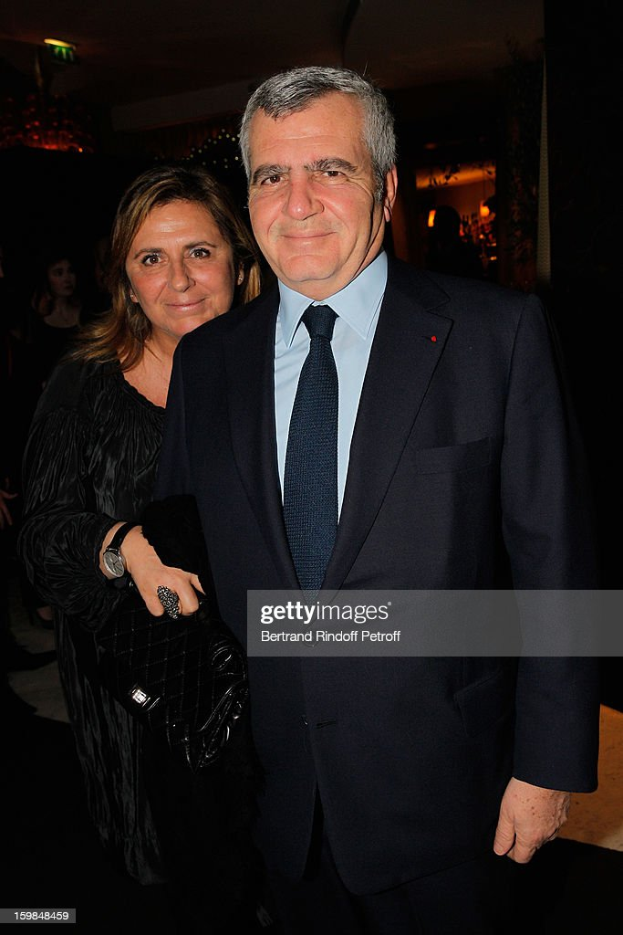 Thierry Herzog and his wife attend 'La Petite Maison De Nicole' Inauguration Cocktail at Hotel Fouquet's Barriere on January 21, 2013 in Paris, France.