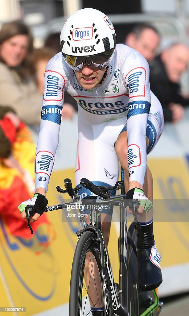 Thierry Hupond of France and Team Argos-Shimano rides during the prologue of 2.9 km of the 2013 Paris-Nice on March 3, 2013 in Houilles, Yvelines, France.