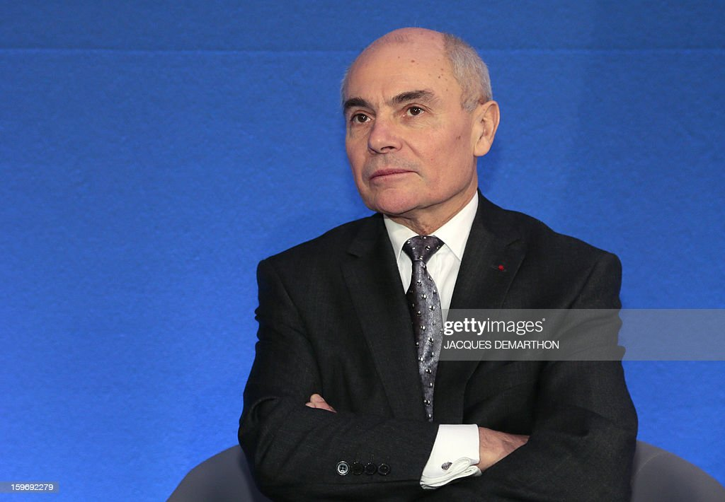 Thierry Lataste, chief of staff of French Interior minister attends the presentation of the report of the past year and the prospects of the security policy for the upcoming yearon January 18, 2013 at the ministry in Paris.