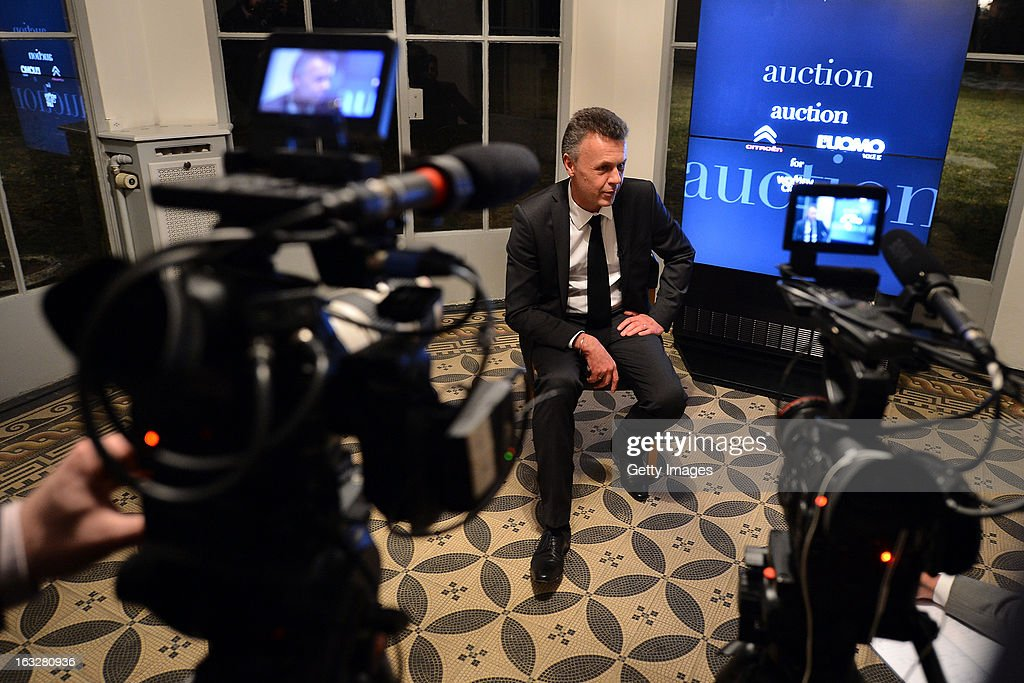 Thierry Metroz, Head of Citroen Design, gives an interview during the charity auctioning of the first 'Citroen DS3 Cabrio L'Uomo Vogue' hosted by L'Uomo Vogue and Citroen at the Permanent Mission of France to the United Nations Office on March 6, 2013 in Geneva, Switzerland.