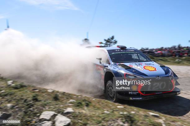 Thierry Neuville and Nicolas Gilsoul in Hyundai i20 Coupe WRC of Hyundai Motorsport in action during the SS5 Viana do Castelo of WRC Vodafone Rally...