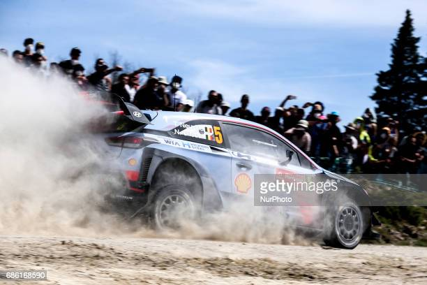 Thierry Neuville and Nicolas Gilsoul in Hyundai i20 Coupe WRC of Hyundai Motorsport in action during the SS10 Vieira do Minho of WRC Vodafone Rally...