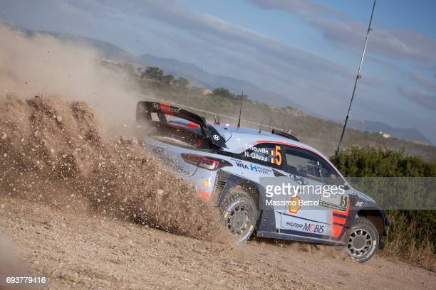 Thierry Neuville of Belgium and Nicolas Gilsoul of Belgium compete in their Hyundai Motorsport WRT Hyundai i20 Coupe WRC during the Shakedown of the...