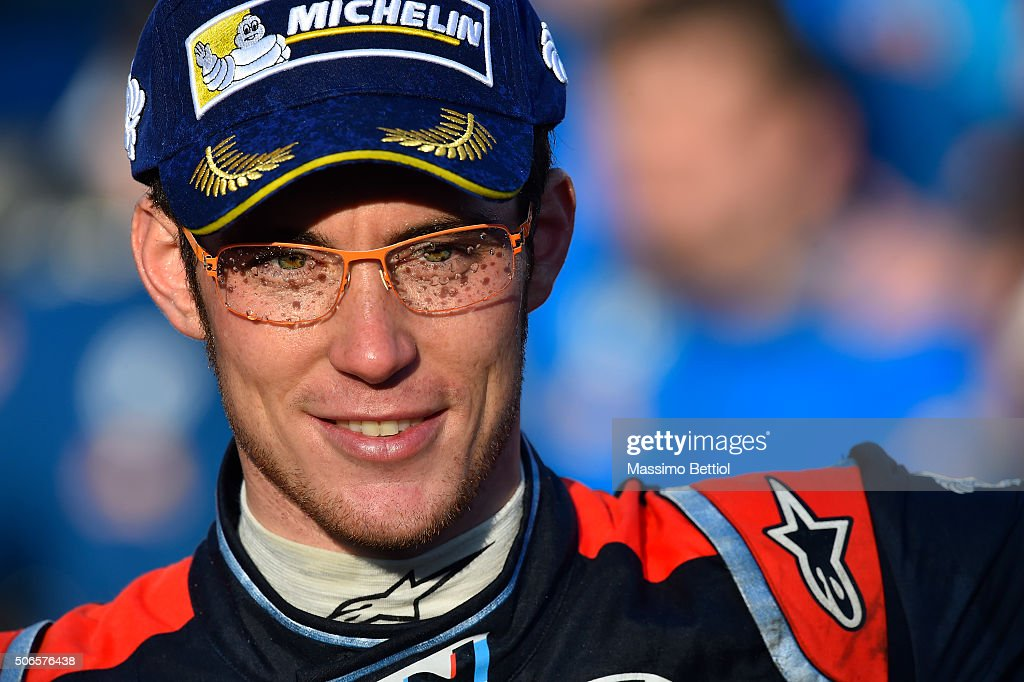 <a gi-track='captionPersonalityLinkClicked' href=/galleries/search?phrase=Thierry+Neuville&family=editorial&specificpeople=8627679 ng-click='$event.stopPropagation()'>Thierry Neuville</a>'s of Belgium portrait taken in the final podium during Day Four of the WRC Monte Carlo on January 24, 2016 in Gap, France.