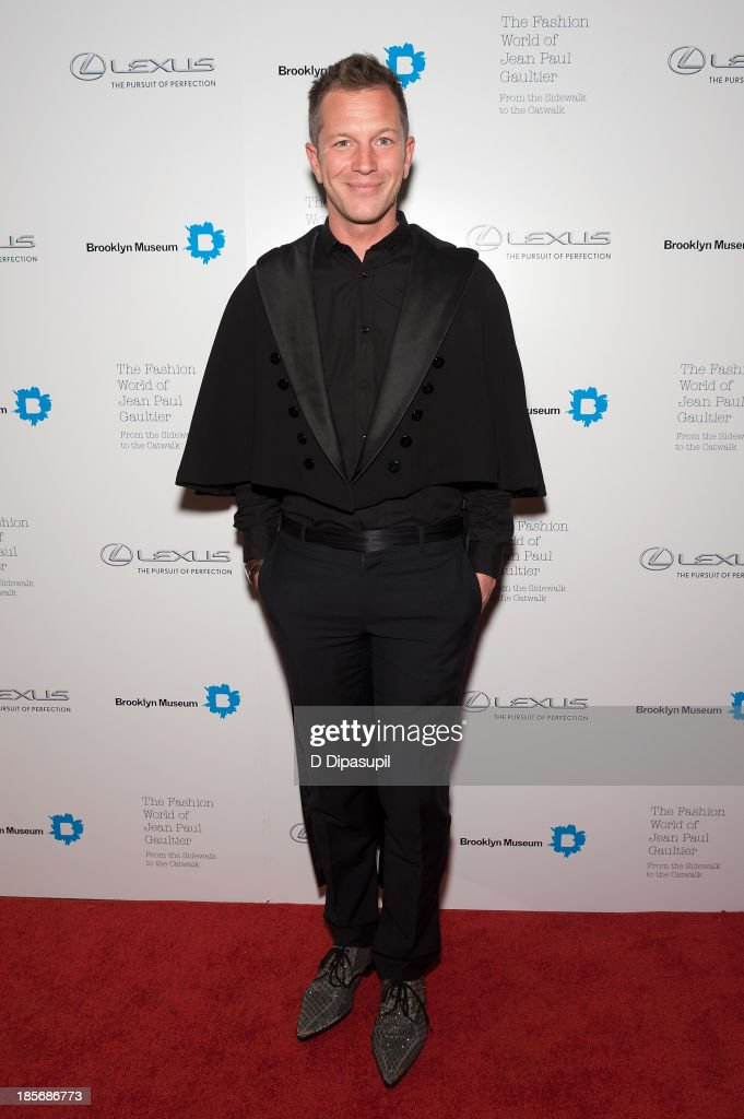 Thierry-Maxime Loriot attends the VIP reception and viewing for The Fashion World of Jean Paul Gaultier: From the Sidewalk to the Catwalk at the Brooklyn Museum on October 23, 2013 in the Brooklyn borough of New York City.