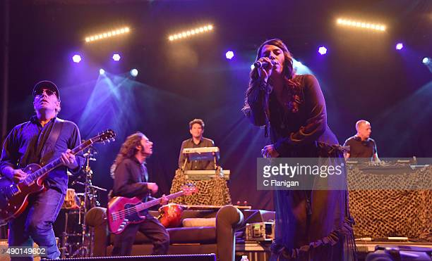 Thievery Corporation performs during the 2015 Life is Beautiful festival on September 25 2015 in Las Vegas Nevada