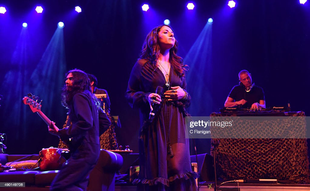 Thievery Corporation performs during the 2015 Life is Beautiful festival on September 25, 2015 in Las Vegas, Nevada.
