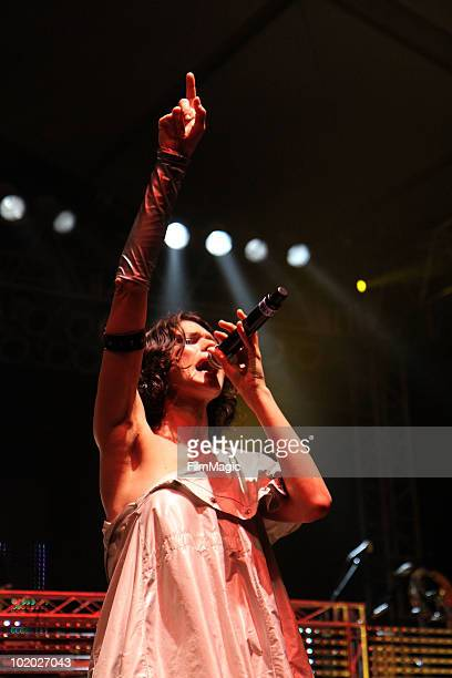 Thievery Corporation performs onstage during Bonnaroo 2010 at That Tent on June 12 2010 in Manchester Tennessee