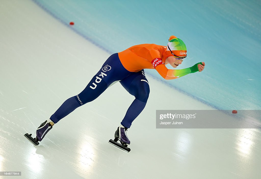 Thijsje Oenema of the Netherlands competes during the 500m race on day four of the Essent ISU World Single Distances Speed Skating Championships at the Adler Arena Skating Center on March 24, 2013 in Sochi, Russia.