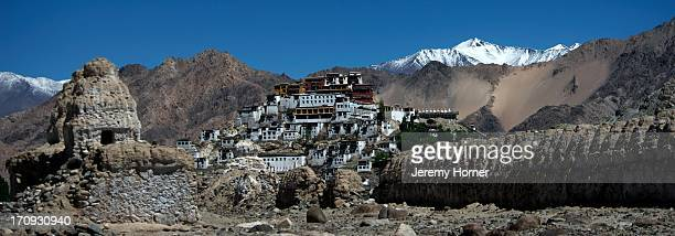 LADAKH JAMMU KASHMIR INDIA Thiksey Monastery a Tibetan Buddhist monastery of the Yellow Hat sect 19km from Leh it is the most architecturally...