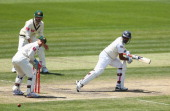 Thilan Samaraweera of Sri Lanka bats during day five of the First Test match between Australia and Sri Lanka at Blundstone Arena on December 18 2012...