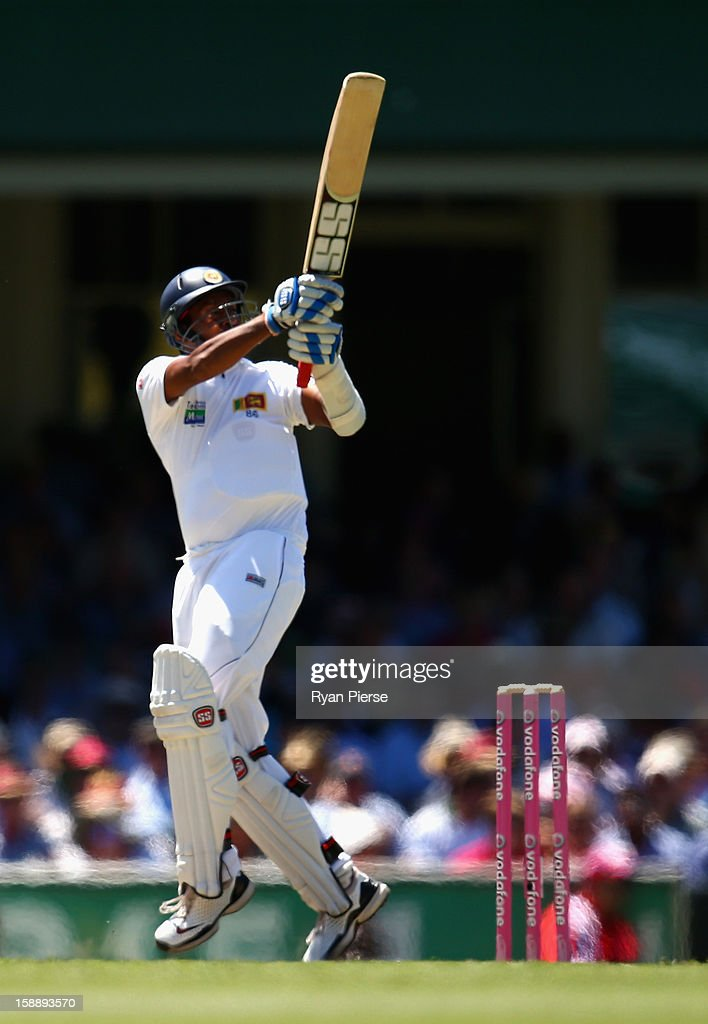 Thilan Samaraweera of Sri Lanka bats during day one of the Third Test match between Australia and Sri Lanka at Sydney Cricket Ground on January 3...