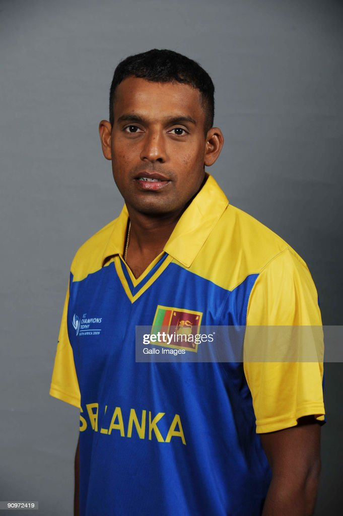 Thilan Samaraweera poses during the ICC Champions photocall session of Sri Lanka at Sandton Sun on September 19 2009 in Sandton South Africa