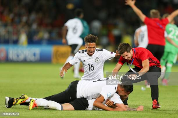Thilo Kehrer Davie Selke celebration during the UEFA U21 Final match between Germany and Spain at Krakow Stadium on June 30 2017 in Krakow Poland