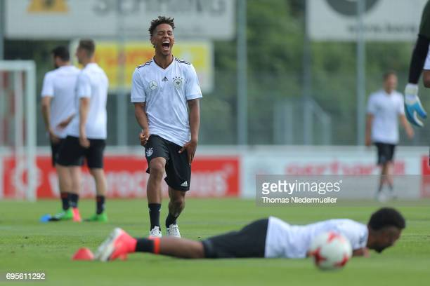 Thilo Kehrer is seen during the Germany U21 training on June 13 2017 in Dreieich Germany