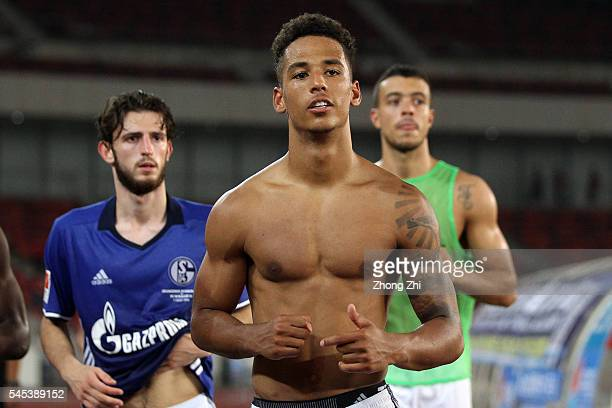 Thilo Kehrer of FC Schalke 04 looks on after the ChinaGermany International Football Challenge match between FC Schalke 04 and Guangzhou Evergrande...