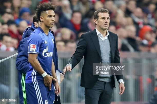 Thilo Kehrer of FC Schalke 04 looks on during the Bundesliga match between Bayern Muenchen and FC Schalke 04 at Allianz Arena on February 4 2017 in...