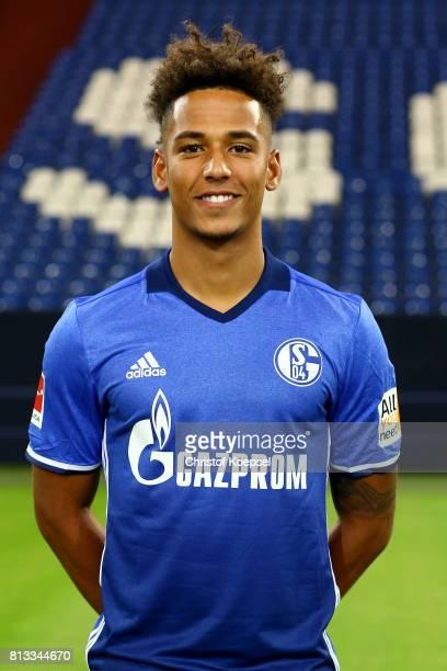 Thilo Kehrer of FC Schalke 04 poses during the team presentation at Veltins Arena on July 12 2017 in Gelsenkirchen Germany