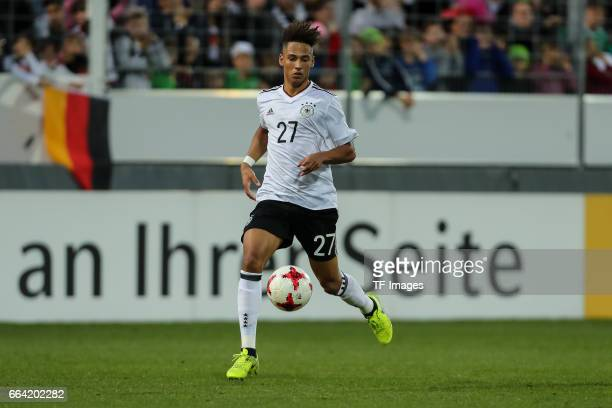 Thilo Kehrer of Germany controls the ball during the International Friendly match between Germany U21 and Portugal U21 at GaziStadion on March 28...