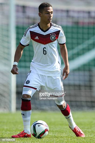 Thilo Kehrer of Germany controls the ball during to the UEFA European Under19 Championship Elite Round match between U19 Germany and U19 Ireland at...