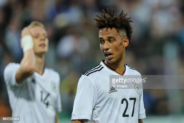 Thilo Kehrer of Germany gestures during the International Friendly match between Germany U21 and Portugal U21 at GaziStadion on March 28 2017 in...