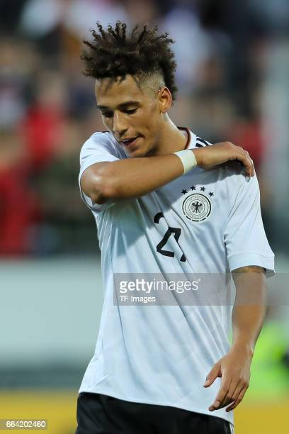 Thilo Kehrer of Germany looks on during the International Friendly match between Germany U21 and Portugal U21 at GaziStadion on March 28 2017 in...