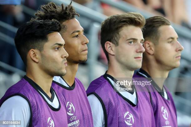 Thilo Kehrer of Germany looks on during the UEFA European Under21 Championship Group C match between Germany and Denmark at Krakow Stadium on June 21...