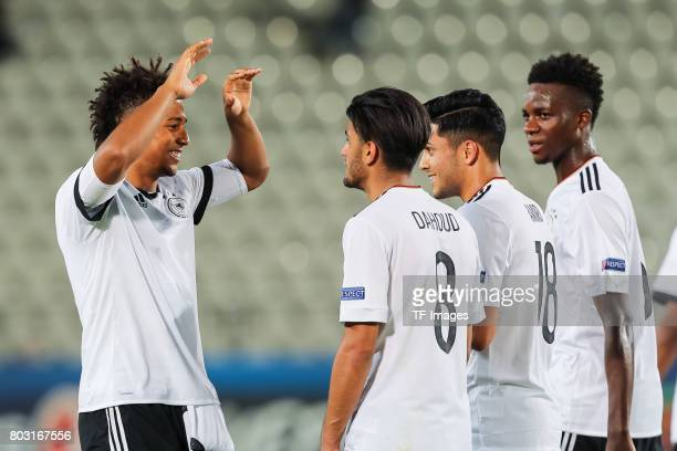 Thilo Kehrer of Germany Mahmoud Dahoud of Germany Nadiem Amiri of Germany Gideon Jung of Germany during the UEFA European Under21 Championship Group...