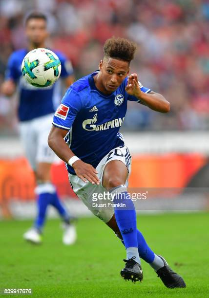 Thilo Kehrer of Schalke in action during the Bundesliga match between Hannover 96 and FC Schalke 04 at HDIArena on August 27 2017 in Hanover Germany