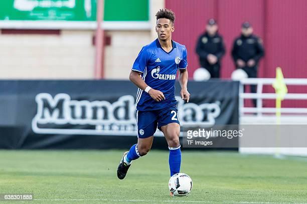 Thilo Kehrer of Schalke in action during the friendly match between FC Schalke 04 v KV Oostende Friendly Match at Estadio Municipal Guillermo Amor on...