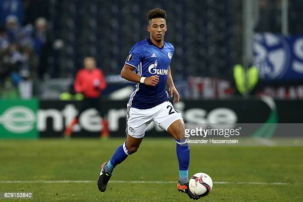 Thilo Kehrer of Schalke runs with the ball during the UEFA Europa League match between FC Salzburg and FC Schalke 04 at Red Bull Arena on December 8...