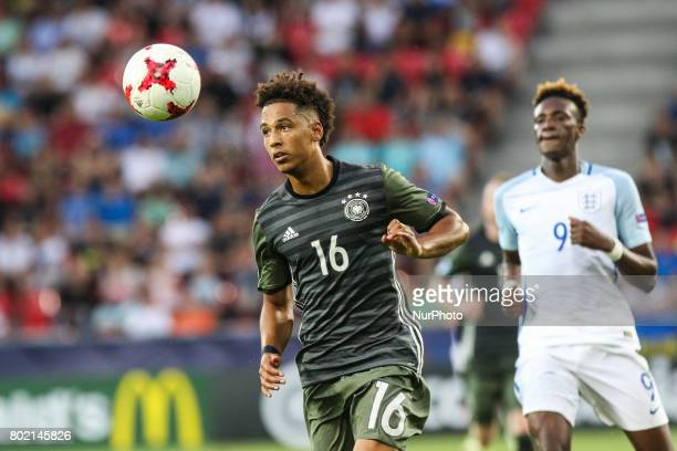 Thilo Kehrer Tammy Abraham during the UEFA European Under21 Championship Semi Final match between England and Germany at Tychy Stadium on June 27...