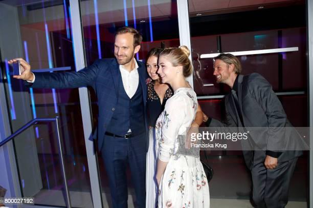 Thimon von Berlepsch Sarah Alles LisaMarie Koroll and Axel Schreiber attend the 'Bertelsmann Summer Party' at Bertelsmann Repraesentanz on June 22...