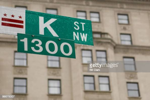 A thin coat of ice covers a K Street sign in Washington on Feb 14 2007