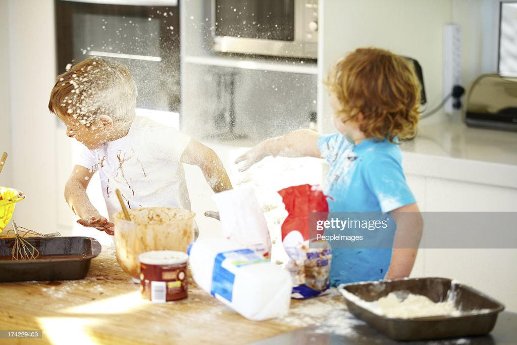 Things are getting out of control in here! : Stock Photo