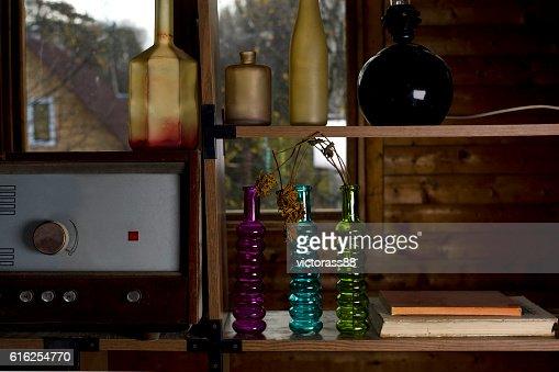 Things On Te Shelf : Stock Photo