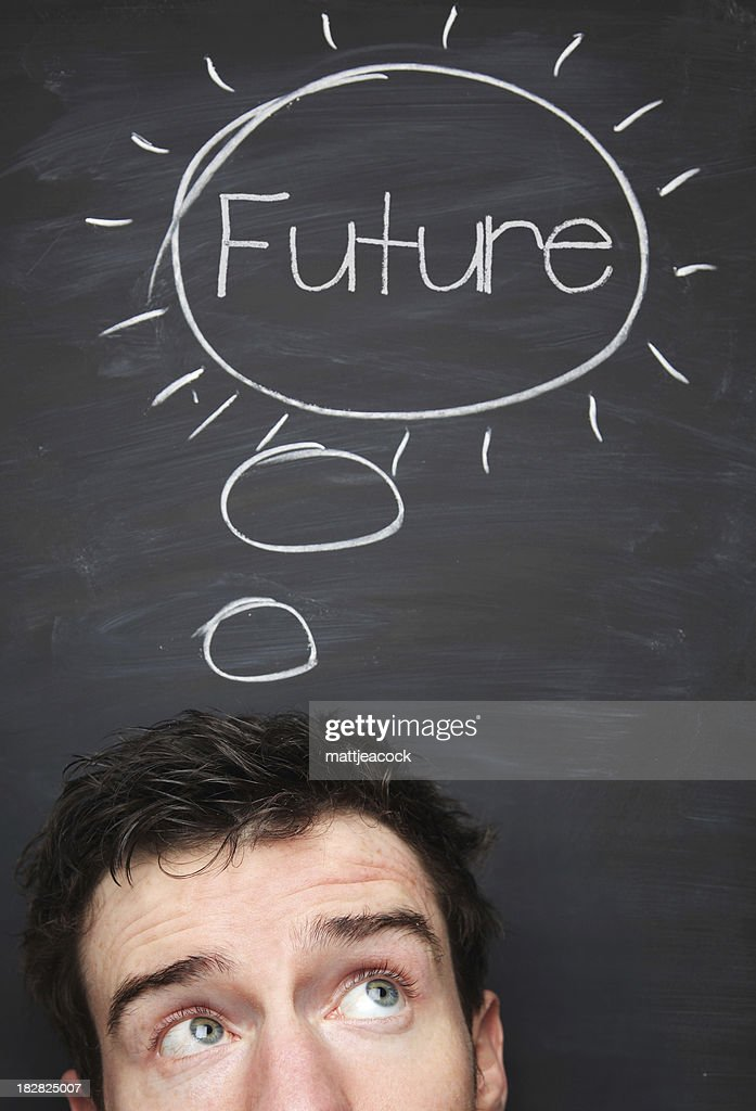 Think about the future : Stock Photo