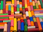 background made of artistic crayons