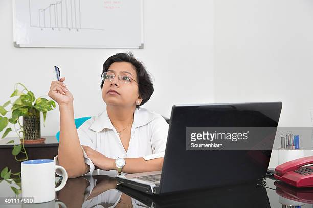 Thinking Indian Business woman