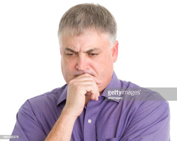 Thinking Man Concentrating