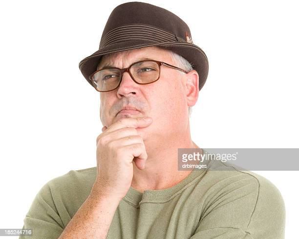 Thinking Man In Hat