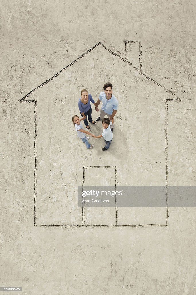 Thinking of a house : Stock Photo