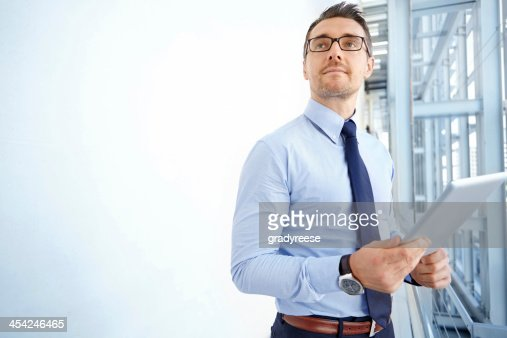 Thinking of corporate strategies : Stock Photo