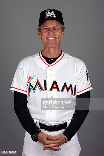 Third Base Coach Brett Butler of the Miami Marlins poses during Photo Day on Wednesday February 25 2015 at Roger Dean Stadium in Jupiter Florida