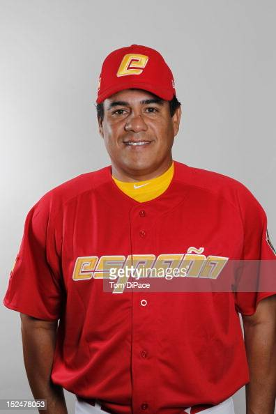 Third base coach Candelario Diaz of Team Spain poses for a head shot for the World Baseball Classic Qualifier at Roger Dean Stadium on September 18...